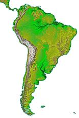 Small map of South America